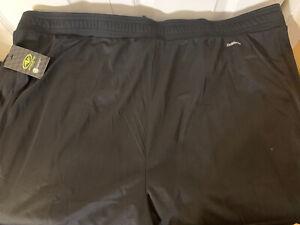 New Track Athletic Pants Black Mens Sz 3XL 48-50 Athletic Works Elastic NWT