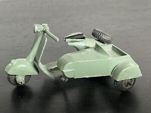 Vintage 1950s Moko Pop-Pop Vespa Scooter Diecast Model - with sidecar - rare
