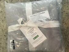 Pottery Barn PB Essential Twin XL 300 Thread Count Fitted Sheet Gray Mist NEW