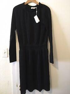 Tory Burch Black Long Sleeve Womens Dress Size L $425 ( 25% Woodlands)