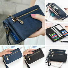 New Women Lady Leather Wallet Long Card Holder Phone Bag Case Purse Handbag US