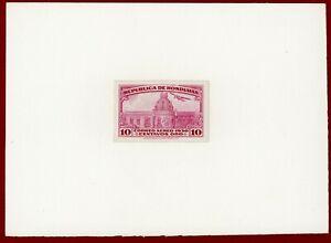 Honduras 1930 #C42, Plate Proof on Card, National Palace, ABNC