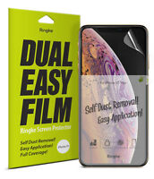 For iPhone XS Screen Protector | Ringke [Dual Easy Film] Full Coverage Cover 2pc
