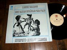Enrique Granados - Doce Danzas Espanolas Para Piano Alicia De Larrocha LP Mexico