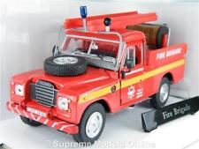LAND ROVER FIRE BRIGADE CAR 1/43RD SIZE MODEL LWB CARARAMA PACK TYPE Y0675J^*^