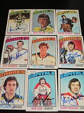 LOT OF 49 DIFFERENT AUTOGRAPHED 1976 TOPPS HOCKEY CARDS