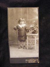 Photographie CDV Enfant à la canne E Gebauer Mulhausen XIX ème Siècle