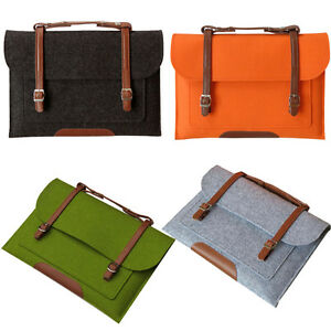 Portable 11 13 15 inch Woolen Felt Carry Sleeve Bag For Laptop Macbook Air Pro