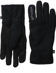 Spyder Black Leather Palm Stretchable Gloves - Size S / M / L / XL - NEW