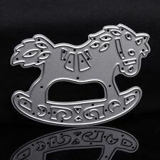 Rocking Horse Dies Metal Cutting Stencil For Scrapbooking Paper CardsGift Decor
