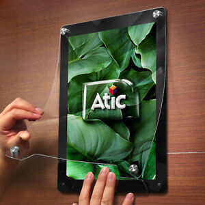 ATIC Frame Note Picture Art Photo Wall Hanging Type Display Black White A4 Size