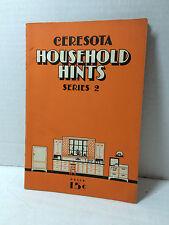 Vintage 1930'S Household Hint & Recipes CERESOTA Flour - Minneapolis Minnesota