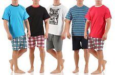 Herren Shorty kurzer modischer Schlafanzug 100% Baumwolle Gr. 48 bis 56 M-XXL