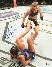 Justine Kish Signed 11x14 Photo BAS Beckett COA UFC Fight Night 102 Autograph 2