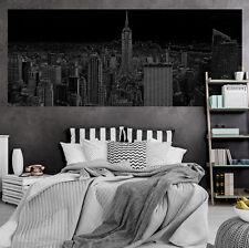 VLIES Fototapeten Fototapete Tapete Stadt Panorama Schwarz New York 3FX10687VEP