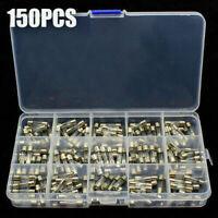 150STK 5x20mm 0.1A-30A Feinsicherung Glassicherung Glasrohr Sicherung mit Box