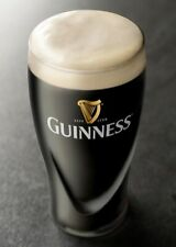 Official Guinness Pint Glass (BRAND NEW)Embossed Harp CE Mark. Man Cave/Home Bar