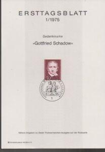 Ersttagsblatt 1/1975 Gottfried Schadow Gedenkmarke