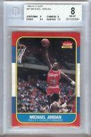 Michael Jordan 1986-87 Fleer RC Rookie Card Graded BGS 8 NM-MT Bulls #57
