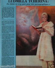 Coupure de presse Clipping 1975 Ludmilla Tcherina  (1 page)