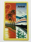 Amtrak Railroad Train Going Thru Winter Summer Scenes Single Swap Playing Card