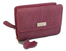 Saddler in pelle in rilievo Tri-Fold borsa portafoglio rosa
