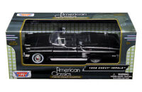 1958 Chevy Impala Convertible Die-cast Car 1:24 Motormax 8 inches Black
