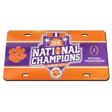 NCAA 2016 Clemson Tigers National Champions Laser Cut License Plate