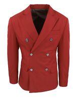 Giacca uomo Sartoriale rosso slim fit blazer doppiopetto 100% made in Italy