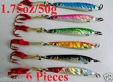 6 Pieces Knife Jigs 1.75oz /50g Vertical Speed Fishing Lures Combo