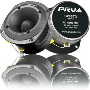 "2 Pack PRV Audio 3.5"" Super Bullet Tweeter 120 Watts Max 8 Ohm Car TW350Ti"