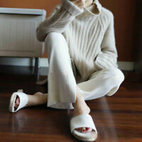 High-Necked Sweater Long Sleeve Loose Coat Tops S M L XL Women Cashmere