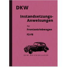 DKW F2 F3 F4 F5 F6 F7 F8 Reichsklasse Reparaturanleitung Werkstatthandbuch Front