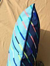 CUSHION.suit inside and out.Blue.Diff colour each side.51 x51cm.suit patio,pool