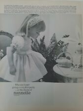 1968 Nannette Originals little girl party bouffant Easter dress vintage ad