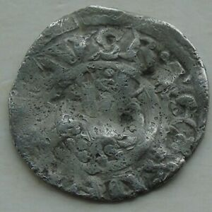 Hammered Silver Penny Coin Unidentified Short Cross of Richard/ Henry John? 18mm