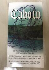 1997 Caboto Cabot Sterling Silver Ten Cent Coin and Commemorative Stamp Set