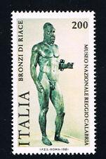 ITALIA 1 FRANCOBOLLO BRONZI DI RIACE MUSEO 1981 nuovo**