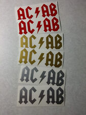 6 pack ACAB Biker vinyl decal sticker pack x 6 A.C.A.B.  rock logo ANONYMOUS