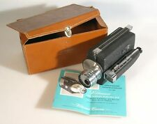 WITTNAUER ELECTRIC EYE 8MM MOVIE CAMERA W/ 13MM F 1.8 LENS, MANUAL AND CASE