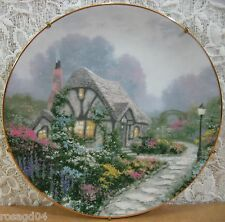 8½� Chandler's Cottage Plate 1st Issue In Garden Cottage England Thomas Kinkade