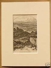 RUINS ON THE HOVENWEEP USA RARE ANTIQUE MOUNTED ENGRAVING FROM 1876 PUBLICATION