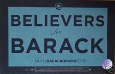 "Official ""Believers for Barack"" Rally Sign - Placard"