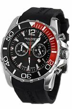 Haurex Italy Men's 3A354UNR Caimano Chronograph Rotating Bezel Sub-Second Watch