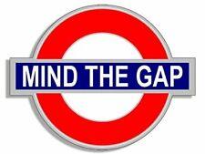 4x4 inch Tube Sign Shaped MIND THE GAP Sticker (UK England Underground Logo)