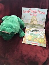 Kohls Cares Plush Bullfrog And 2 Story Paper Cover Books Theme Frogs