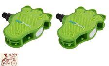 """KIDZAMO DINOSAUR PLASTIC GREEN  1/2"""" BICYCLE PEDALS"""