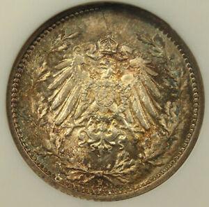 1918-F Germany 1/2 Mark NGC MS67 - RARE BU Coin!