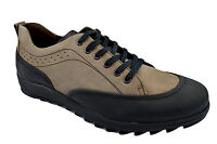 $230 OVATTO Beige Black Leather Casual Men Sneakers Shoes NEW COLLECTION