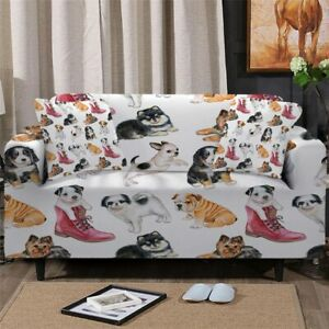 Puppy Boot Dog Pet Sofa Couch Chair Cushion Stretch Cover Slipcover Set Decor